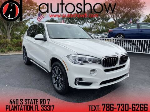 2017 BMW X5 for sale at AUTOSHOW SALES & SERVICE in Plantation FL