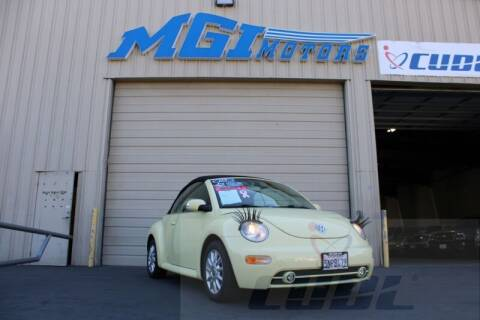 2005 Volkswagen New Beetle Convertible for sale at MGI Motors in Sacramento CA