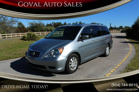 2010 Honda Odyssey for sale at Goval Auto Sales in Pompano Beach FL