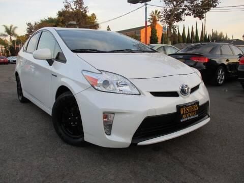 2012 Toyota Prius for sale at WESTERN MOTORS in Santa Ana CA