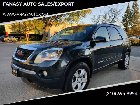 2007 GMC Acadia for sale at FANASY AUTO SALES/EXPORT in Yorba Linda CA