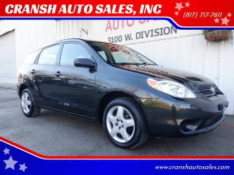 2006 Toyota Matrix for sale at CRANSH AUTO SALES, INC in Arlington TX