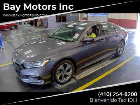 2018 Honda Accord for sale at Bay Motors Inc in Baltimore MD