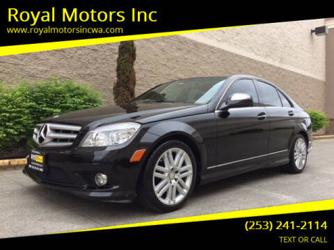 2009 Mercedes-Benz C-Class for sale at Royal Motors Inc in Kent WA
