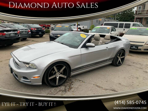 2013 Ford Mustang for sale at Diamond Auto Sales in Milwaukee WI