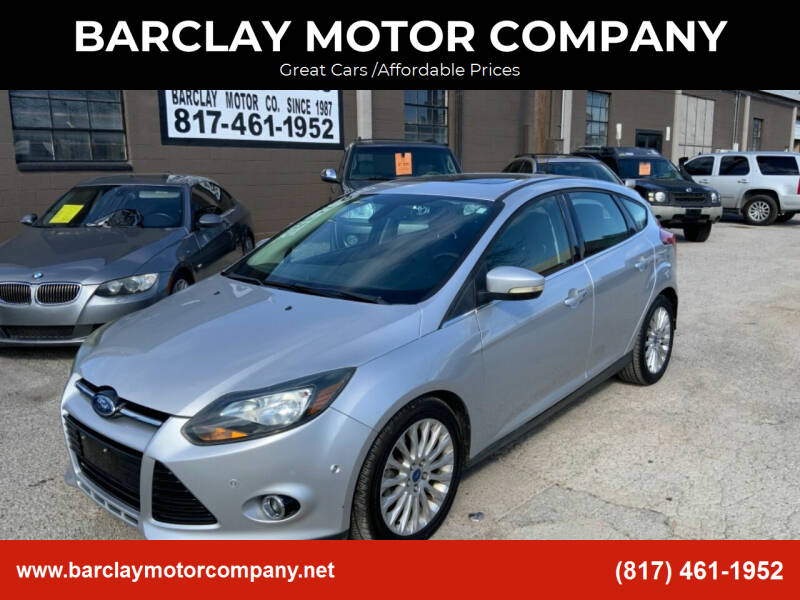 2012 Ford Focus for sale at BARCLAY MOTOR COMPANY in Arlington TX