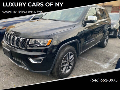 2017 Jeep Grand Cherokee for sale at LUXURY CARS OF NY in Queens NY