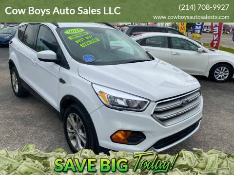 2018 Ford Escape for sale at Cow Boys Auto Sales LLC in Garland TX