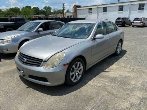 2005 Infiniti G35 for sale at ASAP Car Parts in Charlotte NC