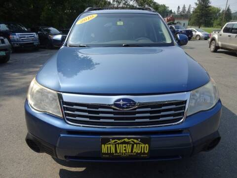 2010 Subaru Forester for sale at MOUNTAIN VIEW AUTO in Lyndonville VT