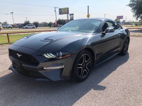 2019 Ford Mustang for sale at BARROW MOTORS in Caddo Mills TX
