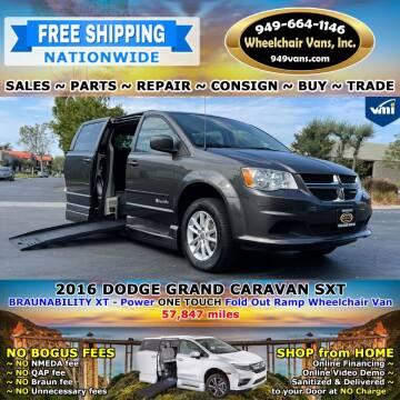 2016 Dodge Grand Caravan for sale at Wheelchair Vans Inc - New and Used in Laguna Hills CA