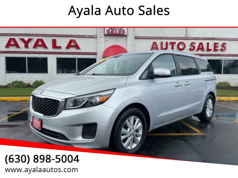 2015 Kia Sedona for sale at Ayala Auto Sales in Aurora IL