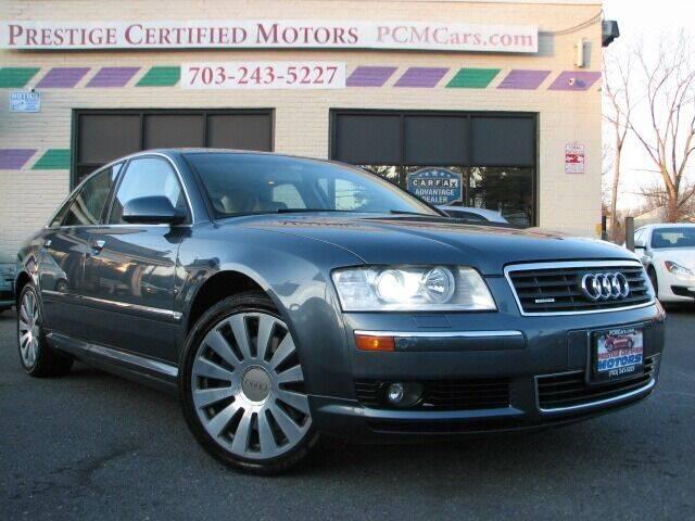 2005 Audi A8 for sale at Prestige Certified Motors in Falls Church VA