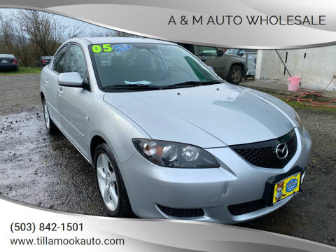 2005 Mazda MAZDA3 for sale at A & M Auto Wholesale in Tillamook OR