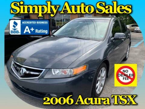 2006 Acura TSX for sale at Simply Auto Sales in Palm Beach Gardens FL