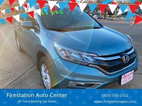2016 Honda CR-V for sale at Firestation Auto Center in Tyler TX