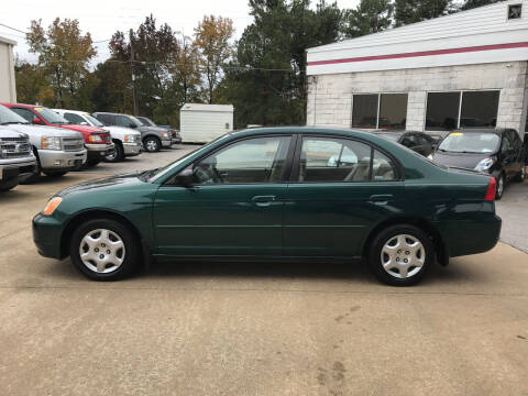 2002 Honda Civic for sale at Northwood Auto Sales in Northport AL