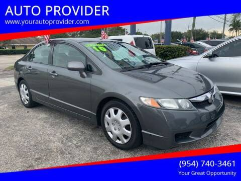 2010 Honda Civic for sale at AUTO PROVIDER in Fort Lauderdale FL