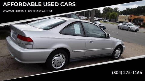 2000 Honda Civic for sale at AFFORDABLE USED CARS in Richmond VA