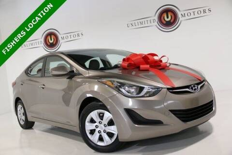 2016 Hyundai Elantra for sale at Unlimited Motors in Fishers IN