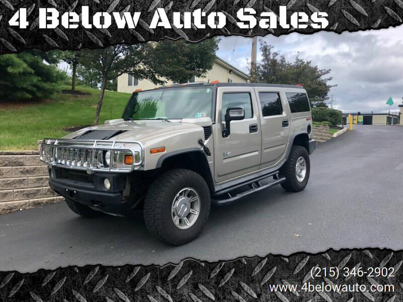 2006 HUMMER H2 for sale at 4 Below Auto Sales in Willow Grove PA