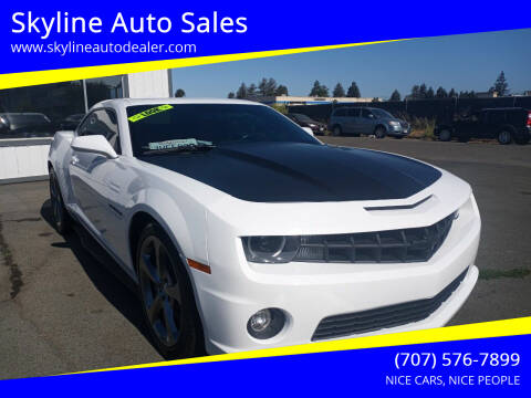 2013 Chevrolet Camaro for sale at Skyline Auto Sales in Santa Rosa CA