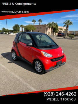 2008 Smart fortwo for sale at FREE 2 U Consignments in Yuma AZ