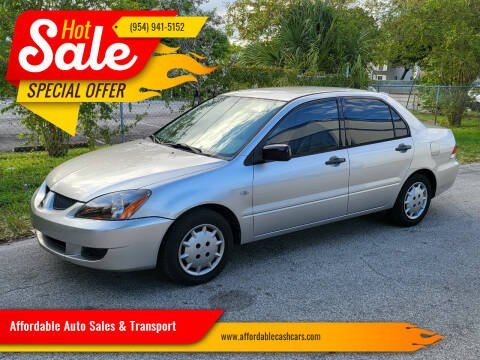 2004 Mitsubishi Lancer for sale at Affordable Auto Sales & Transport in Pompano Beach FL