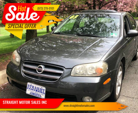 2003 Nissan Maxima for sale at STRAIGHT MOTOR SALES INC in Paterson NJ