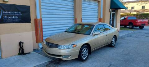 2002 Toyota Camry Solara for sale at Cad Auto Sales Inc in Miami FL