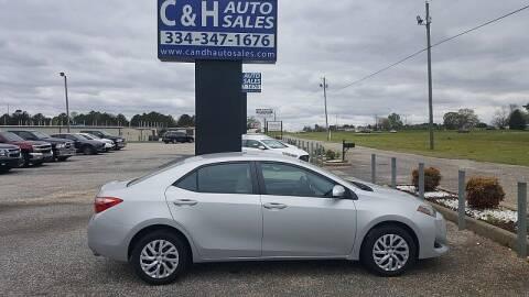 2018 Toyota Corolla for sale at C & H AUTO SALES WITH RICARDO ZAMORA in Daleville AL