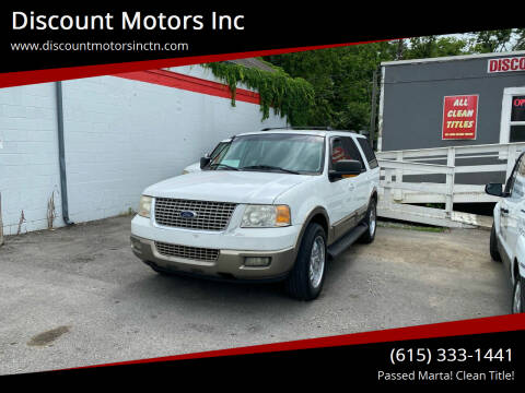 2003 Ford Expedition for sale at Discount Motors Inc in Nashville TN