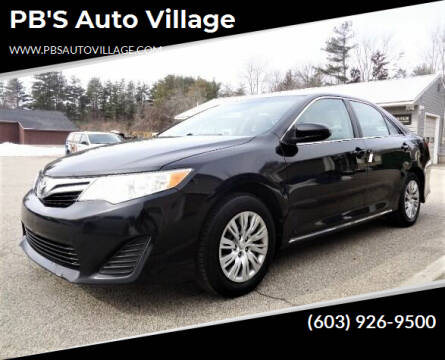 2014 Toyota Camry for sale at PB'S Auto Village in Hampton Falls NH