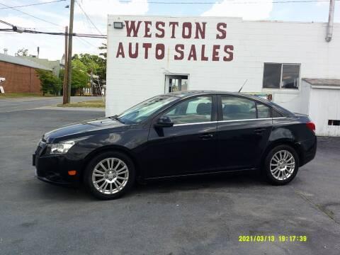 2012 Chevrolet Cruze for sale at Weston's Auto Sales, Inc in Crewe VA