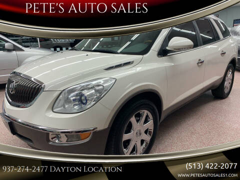 2009 Buick Enclave for sale at PETE'S AUTO SALES LLC - Dayton in Dayton OH