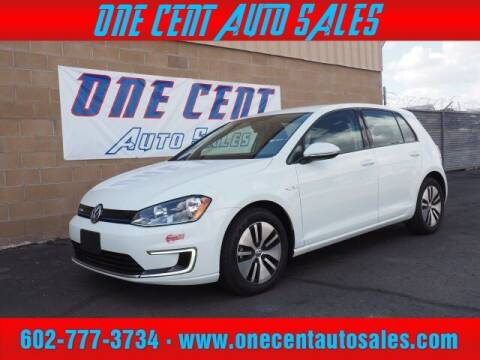 2016 Volkswagen e-Golf for sale at One Cent Auto Sales in Glendale AZ