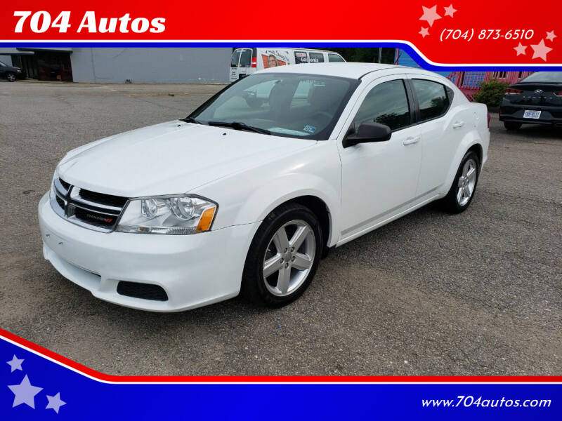 2013 Dodge Avenger for sale at 704 Autos in Statesville NC