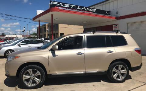 2011 Toyota Highlander for sale at FAST LANE AUTO SALES in San Antonio TX