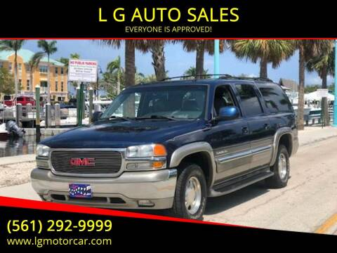 2003 GMC Yukon XL for sale at L G AUTO SALES in Boynton Beach FL