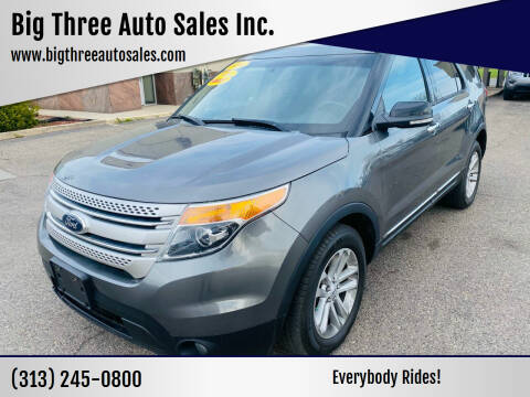 2014 Ford Explorer for sale at Big Three Auto Sales Inc. in Detroit MI