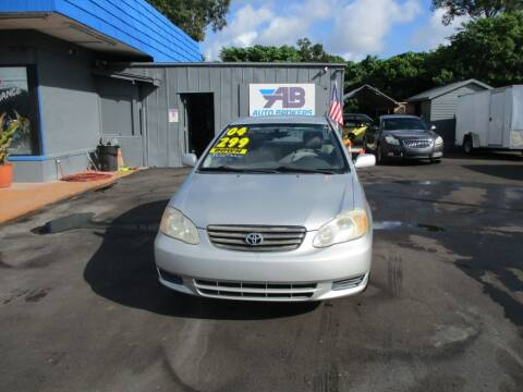 2004 Toyota Corolla for sale at AUTO BROKERS OF ORLANDO in Orlando FL