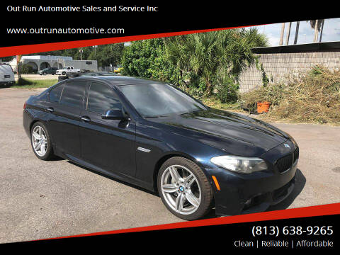 2014 BMW 5 Series for sale at Out Run Automotive Sales and Service Inc in Tampa FL