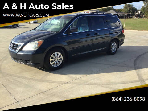 2009 Honda Odyssey for sale at A & H Auto Sales in Greenville SC