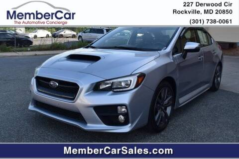 2016 Subaru WRX for sale at MemberCar in Rockville MD