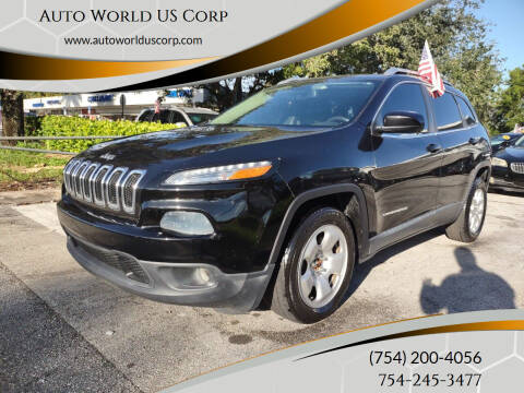 2014 Jeep Cherokee for sale at Auto World US Corp in Plantation FL