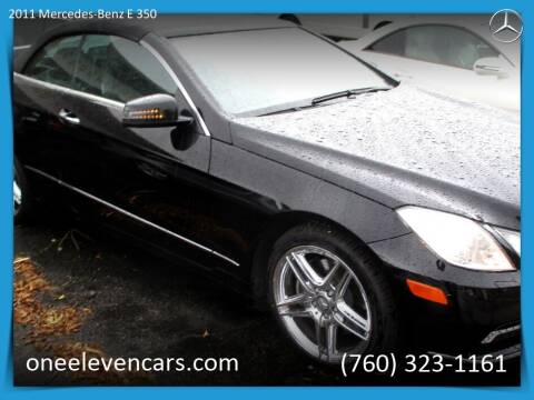 2011 Mercedes-Benz E-Class for sale at One Eleven Vintage Cars in Palm Springs CA