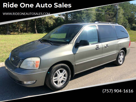 2005 Ford Freestar for sale at Ride One Auto Sales in Norfolk VA