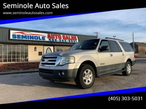 2007 Ford Expedition EL for sale at Seminole Auto Sales in Seminole OK