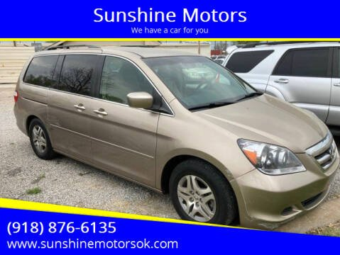 2006 Honda Odyssey for sale at Sunshine Motors in Bartlesville OK